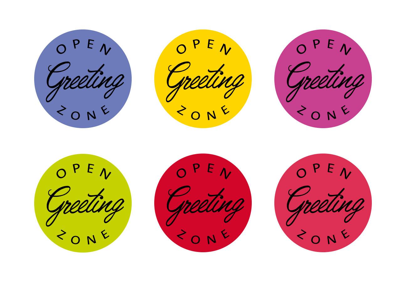 Ein Logo in unterschiedlichen Farben