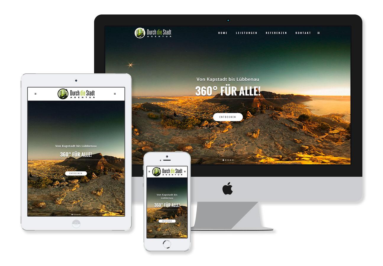 Mockup einer Website