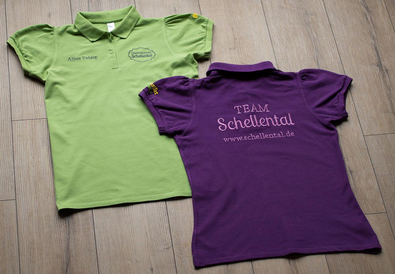T-Shirts mit Bestickung